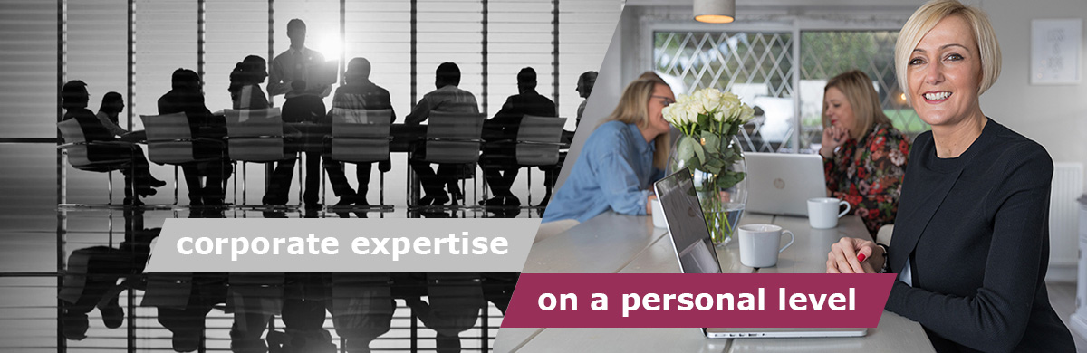corporate expertise on a personal level